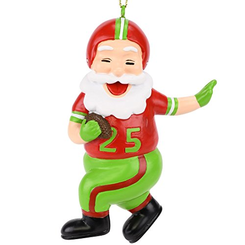 Tree Buddees Touchdown Santa Christmas Sports Football Ornament (Xmas Colors)