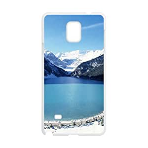 Blue Sky And Snow Mountains White Phone For SamSung Note 3 Case Cover