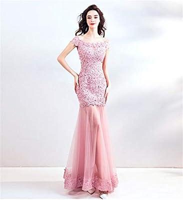 LYJFSZ-7 Vestido de Novia Elegante para Dama, Vestido Rosa, Falda ...