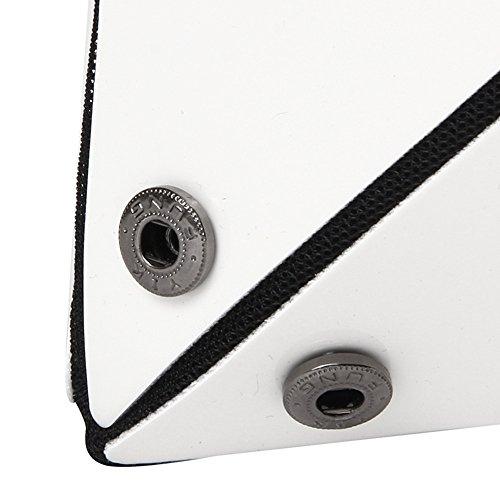 KAISIBO and For Geometric PU purses women Lattice Tote Silver Fashion Leather Handbags RwRqxAT1r