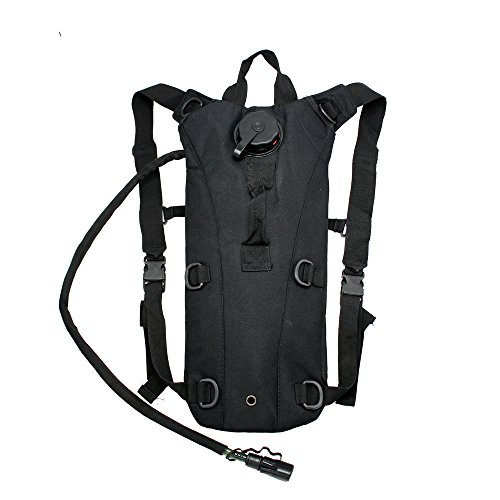GEARONIC TM 2L Hydration System Climbing Survival Hiking Pouch Backpack Bladder Water Bag - Black
