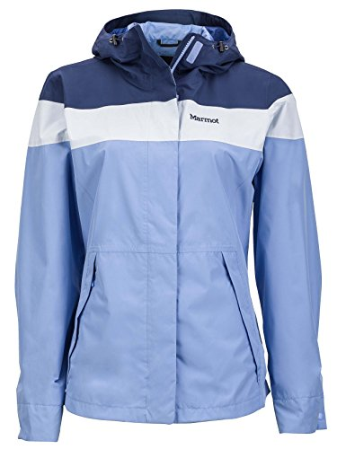 Marmot Roam Women's Lightweight Waterproof Hooded Rain Jacket, Pale Dusk/Grey Dawn, Medium