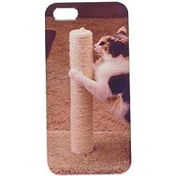 my-handy-design Gato con rascador para teléfono Celular Caso iPhone5