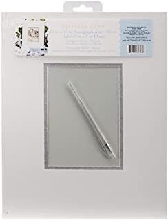 darice vl64 autograph mat frame with pen whitesilver