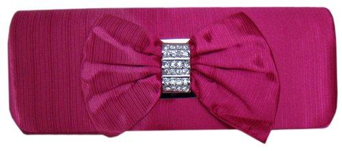 Elegante Abendtasche,Clutch Bag,26x10 cm,Pink