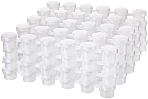 Fransande 24 strips 2 ml kleurstrips leeg potten opbergdoos transparant schilderwerk kunst handwerk accessoires 144 potten in totaal