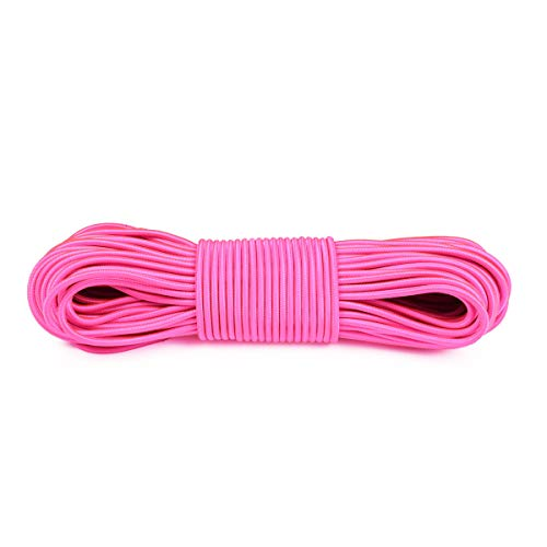 Atwood Rope MFG Shock Cord Bungee Cord - 5/32 Inch - Without Hooks - 25, 50, 100 Feet (Neon Pink, 50)