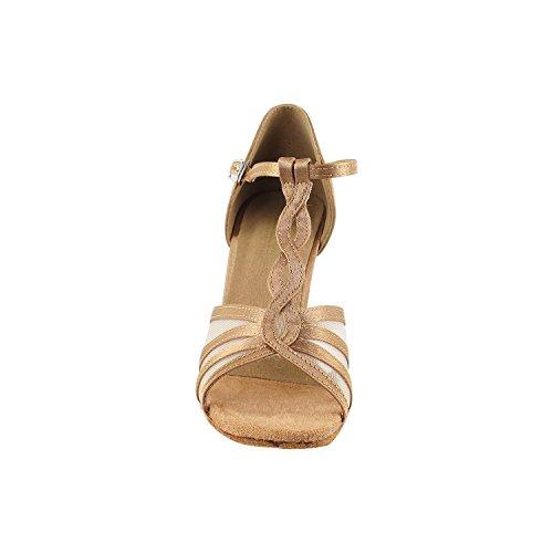"""50 Shades Of Tan Dance Kleid Schuhe Collection-II, Komfort Abendkleid Hochzeit Pumps: Ballroom Schuhe für Latin, Tango, Salsa, Swing, Kunst von Party Party (2,5 """", 3"""" & 3,5 """"Heels) Sera1692 Beige Braunes Leder & Fleisch Mesh"""
