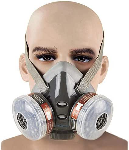 Safety Respirator Anti -Dust Respirator Mask PM 2.5 Half Face Piece Reusable Respirators For Painting Formaldehyde Anti Virus Industrial Gas Chemical Anti-Dust Paint Respiratory Protection