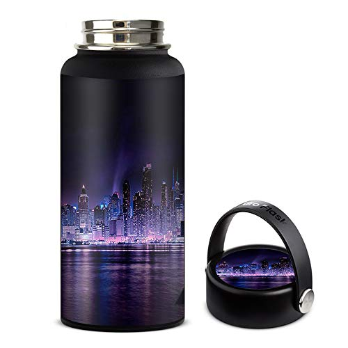 Skin Decal Vinyl Wrap for Hydro Flask 32oz Wide Mouth stickers skins cover/Manhattan Skyline