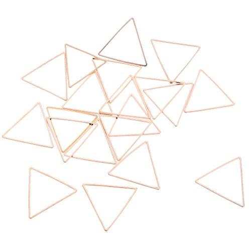 Homyl 20pcs DIY Handmade Geometric Pendant Triangle Square Earring Dangle Jewelry - Gold Triangle ()