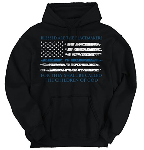 Pro Life Sweatshirt (New Blue Lives Matter Thin Flag Police Officer Shield Support)