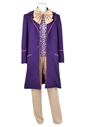 DreamDance Chocolate Factory Cosplay Willy Wonka Costume Purple Male XL ()