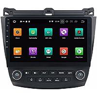 Glyqxa Android 8.0 10.1 Car DVD Player GPS for Honda ACCORD 7 2003 2004-2007 With Radio GPS 4GB RAM Bluetooth WIFI USB DVR 32GB ROM