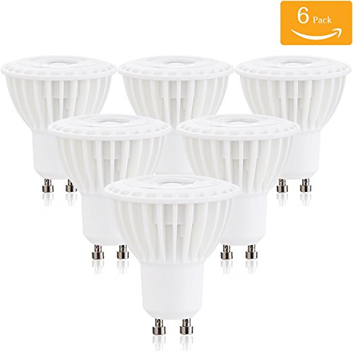 Downlight Fabric Shade (Dimmable 5W GU10 Led Bulbs, 50W Halogen Bulbs Equivalent, Recessed Lighting, GU10 LED Spotlight with GU10 Base, 500lm, 120 Voltage 38 Degree Beam Angle 4000K Natural White Glow ( 6 pack))