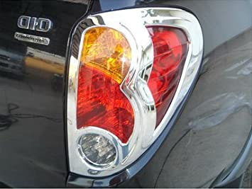 Chrome Tail Light Lamp Back Cover Trim for Mitsubishi L200 Animal Triton Pickup