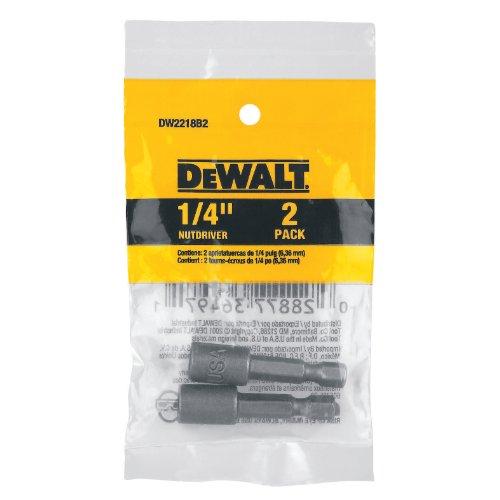 DEWALT DW2218B2 1/4-Inch by 1 7/8-Inch Magnetic Nut Driver - Hex Dewalt Nuts