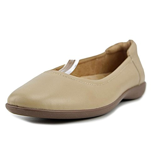 Sandali Da Donna Casual Natural In Pelle Con Punta Arrotondata Color Nude