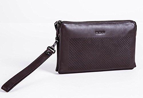 Zipper Men's TIDIV Genuine Money Business Mens Wallet Purse Long Clip Leather qO0dcwB0