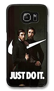 S6 Case, Nike Just Do It Hippolyte Flandrin Painting Swooshart Ideas Ultra Fit Black Bumper Shockproof Case For Galaxy S6 Customizable Hard PC Samsung Galaxy S6