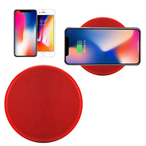 Price comparison product image Hot Sale! Qi Wireless Charger,Sunfei Charge Qi Wireless Charging Stand Dock for iPhone 8/iPhone 8 Plus (Red)