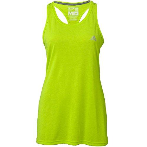 Adidas Womens Ultimate Sleeveless Tee Medium Solar Slime
