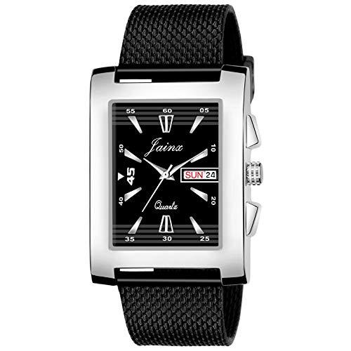 JAINX Casual Analogue Black Dial Men's Watch (Black Dial Black Colored Strap)