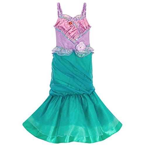 Disney Store Ariel Costume The Little Mermaid Heart Size S Small 5 - 6 5T (Ariel Costume Dress)