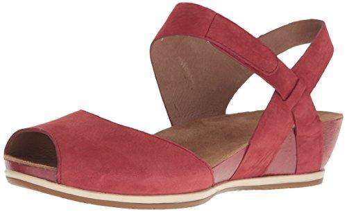 Dansko Womens Vera Flat Sandal Red Nubuck dp8O4E0FXz