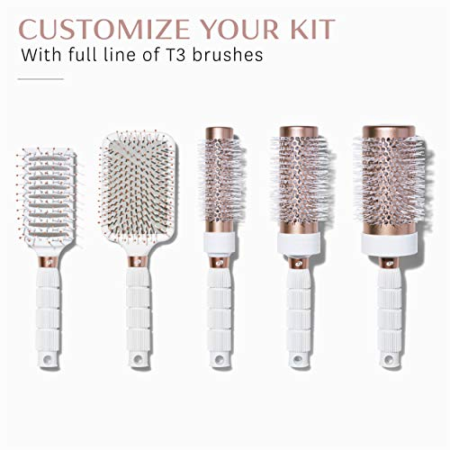 T3 - Smooth Paddle Hair Brush | Professional Cushioned Paddle Brush for Sleek Smooth Blowouts | Heat Resistant Bristles by T3 Micro (Image #6)