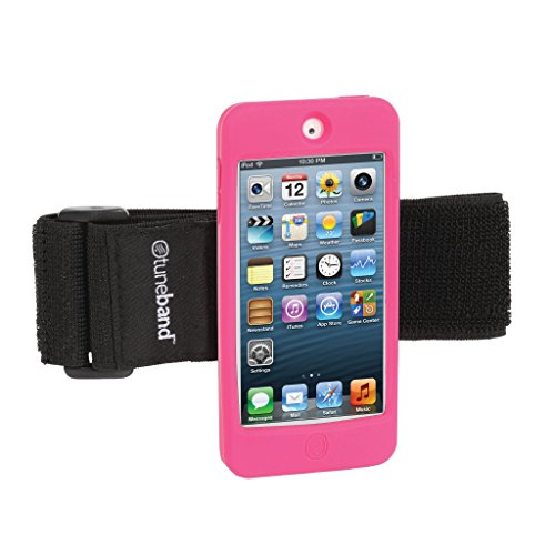 TuneBand for iPod touch 5th Generation / 6th Generation, Premium Sports Armband with Two Straps and Two Screen Protectors (Fits Models A1421/A1509/A1574), PINK