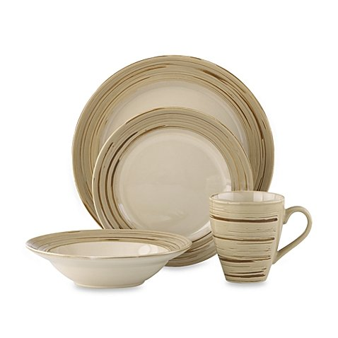 Dansk Studio Schema Sand Earthenware 16-Piece Dinnerware Set