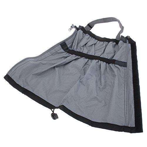 tinxi® Polainas impermeables botas para caminatas al aire libre 2 piezas negro