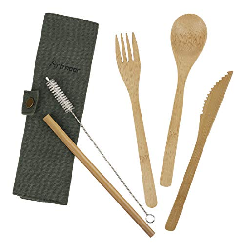Special Section Outdoor Flatware Set Fork Spoon Chopsticks Stainless Steel Camping Tableware Travel Utensils With Carrying Pouch Organizer Sports & Entertainment