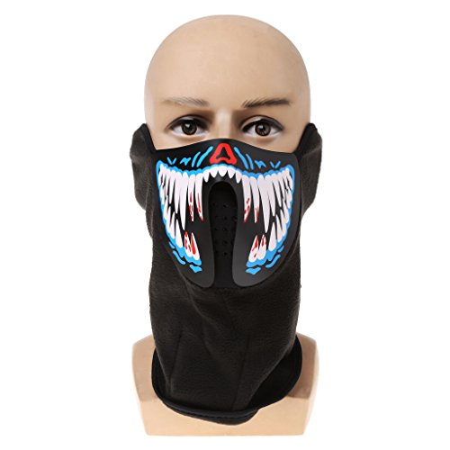 Dabixx Mask Luminous Skull Mask Maske Masque Horreur Halloween Decoration Craft Supplies - 02# -