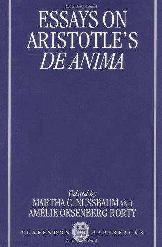 Download Essays on Aristotle's De Anima (Clarendon Aristotle) Pdf