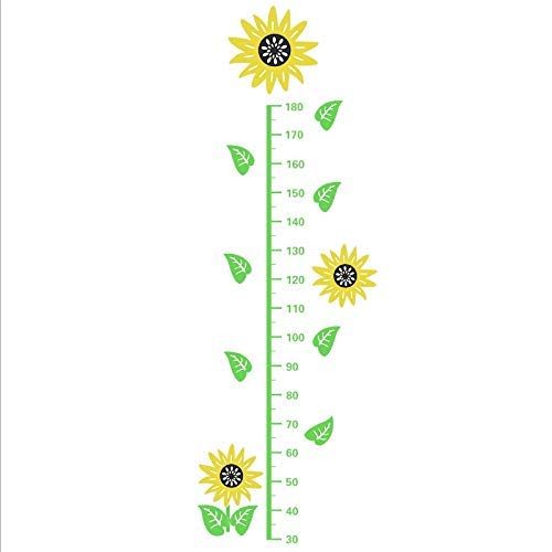 Leguliya Sunflower 3D Three-Dimensional Height Stickers Children's Height Wall Stickers to Measure Height Feet Baby Room Stickers Decoration Can Be - Stickers Dimensional Sunflowers