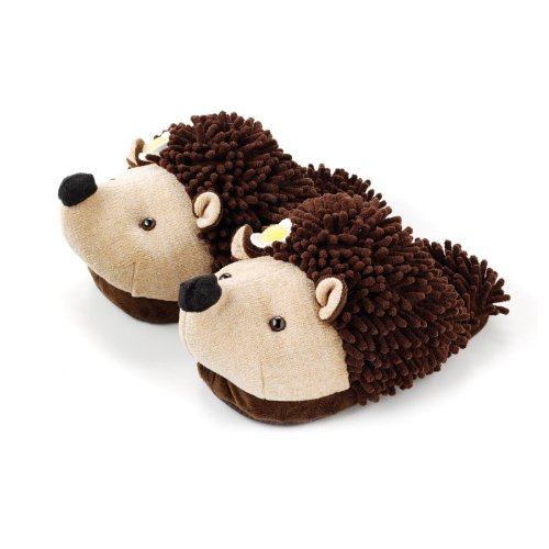 Animal Fuzzy Friends Womens Slippers Hedgehog