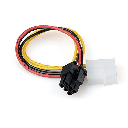 Connector Molex - 2pcs 4 Pin Molex To 6 Pci Express Pcie Video Card Power Converter Adapter Cable Connectors - 4pin Iron Cable Sound Notebook Camera Midi Front Pcie Case Molex Card Glove Lapto