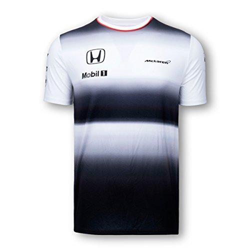 Honda Team T-shirt - Honda MCLAREN Jenson Button Mens T-Shirt 2016 Replica (Large)