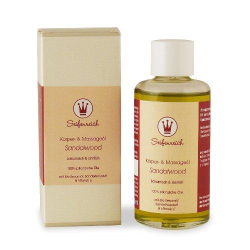 Seifenreich Körper- und Massageöl Sandalwood, 1er Pack (1 x 100 ml)