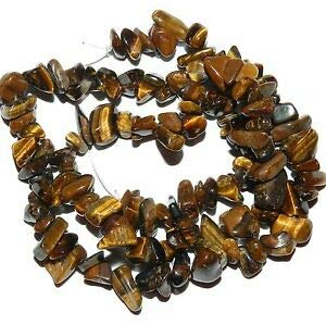(NG2199 Golden Brown 10mm - 12mm Tiger's Eye Gemstone Pebble & Chip Bead Strand Making Beading Beaded Necklaces Yoga Bracelets )