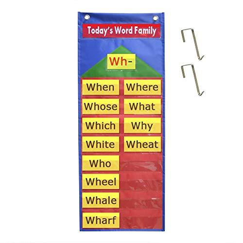 Godery Classroom Mini Pocket Chart, Word Wall Standard Pocket Charts for Classroom