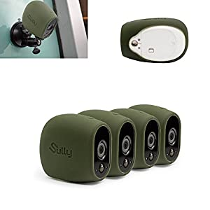 Silicone Skins for Arlo HD (4 pcs) for Arlo HD Wireless Free Camera Protective Case - for Netgear Arlo HD Smart Security Accessories Silikon Case - For VMS3230- By Sully