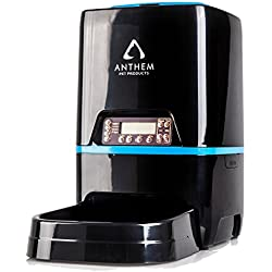 Automatic Pet Feeder for Cats | Timed, Programmable Cat and Kitten Food Dispenser for Dry Kibble Portion Control | Set Up to 4 Meals, Voice Recording, Battery and Plug-in Power, 1.58 Gallon Capacity