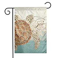 GDjiuzhang Sea Turtle Modern Coastal Ocean Beach Swirls Style Home Garden Flag - Premium Material Yard Decoration& Outdoor Decoration 12x18 Inches