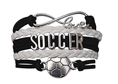 Soccer Gifts, Soccer Bracelet, Soccer Jewelry, Adjustable Soccer Charm Bracelet- Perfect Soccer Gifts
