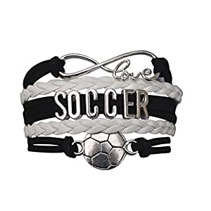 Infinity Collection Soccer Gifts, Soccer Bracelet, Soccer Jewelry, Adjustable Soccer Charm Bracelet- Perfect Soccer Gifts