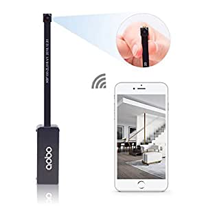 Spy Camera AOBO Hidden Camera Wireless WiFi IP Cameras for Home/Office Security Mini Portable Covert Nanny Cam works for iPhone ios/Android mobilephone PC