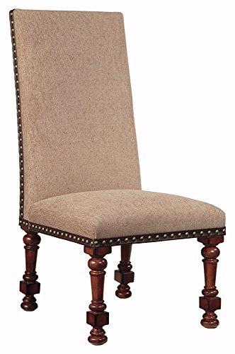 Ashley Furniture Signature Design   Gaylon Dining Side Chair   High Back   Set Of 2   Burnished Brown